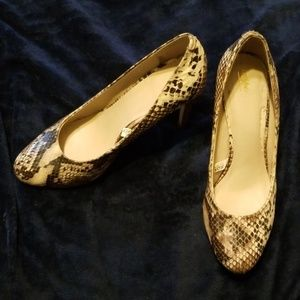 Mossimo Faux Snake Print Heels
